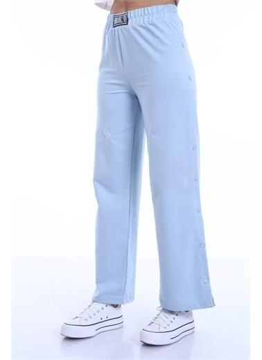 Rodi Jeans Kadın Yanı Çıtlı Bol Paça Pantolon (8002) DS21YB091238 Mavi
